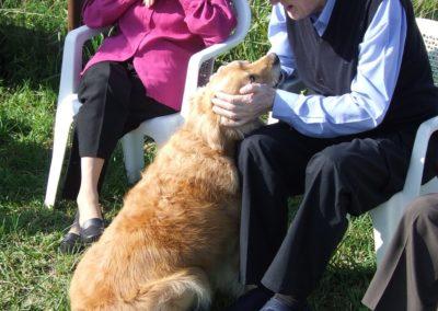 """""""L'anziano incontra il cane e lo racconta ai bambini. Prima e terza età: un confronto generazionale a sostegno del ruolo sociale attraverso la mediazione del cane sociale""""."""
